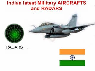 latest indian aircraft and indian radar