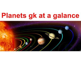 solar system quiz and gk planet at a galance