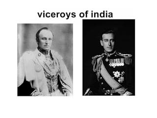 viceroys of india importent turning point