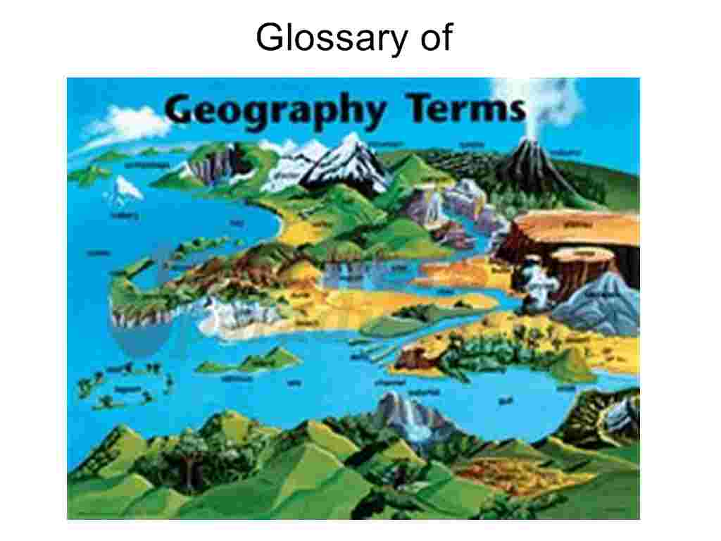 Glossary of geographical terms with climate definition