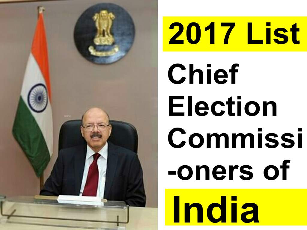 Chief Election Commissioners of India
