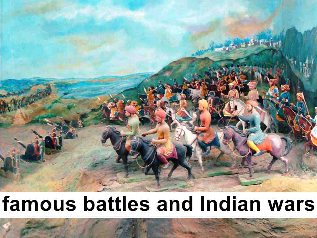 famous battles and Indian wars