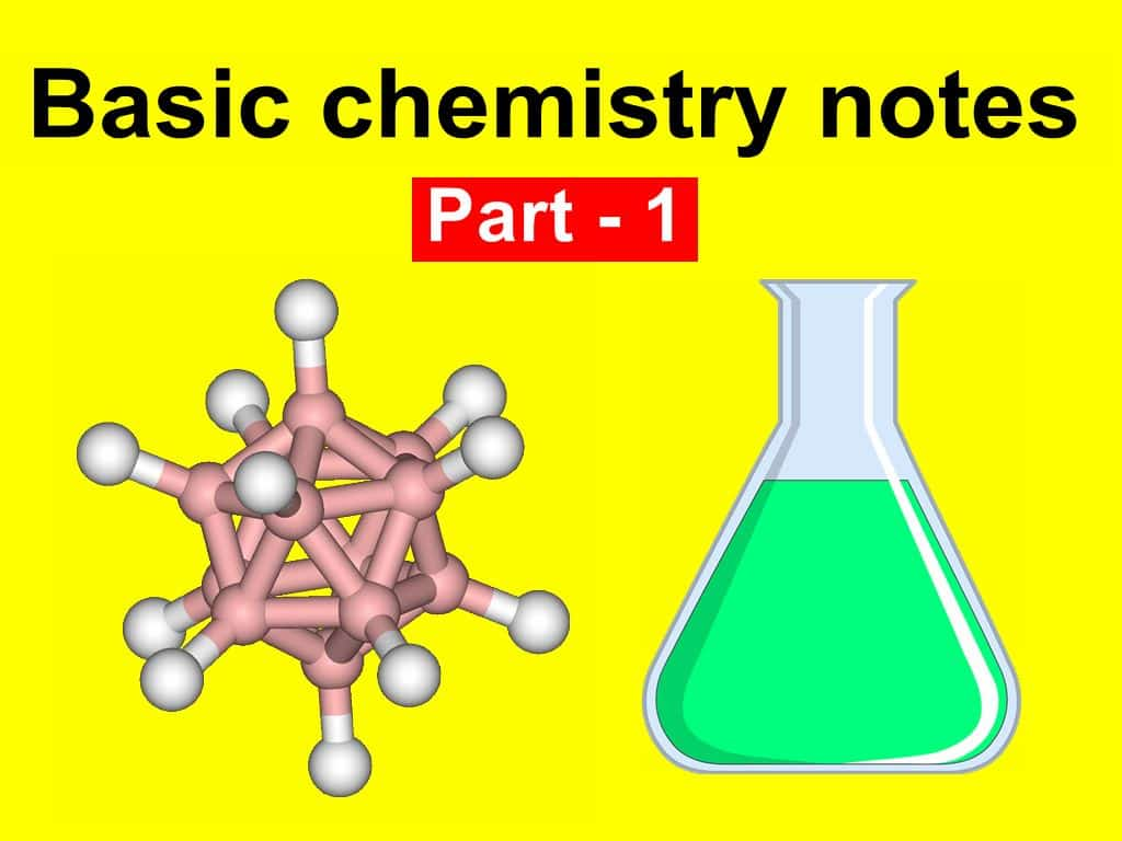 basic chemistry notes and chemistry topics